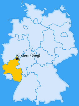 Karte von Kirchen (Sieg)