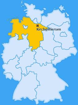 Karte von Kirchgellersen