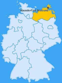 Karte von Klausdorf bei Stralsund