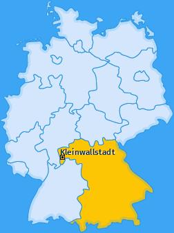 Karte von Kleinwallstadt