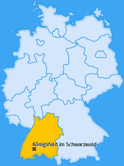 Karte von Königsfeld im Schwarzwald
