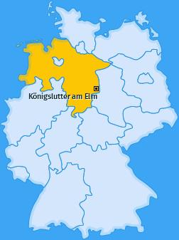 Karte von Königslutter am Elm