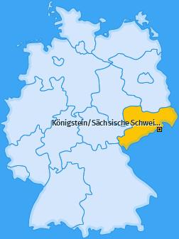 Karte von Königstein/Sächsische Schweiz