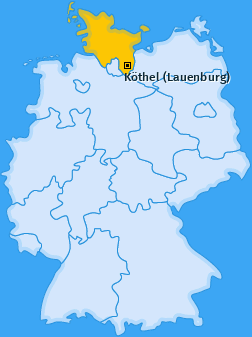 Karte von Köthel (Lauenburg)
