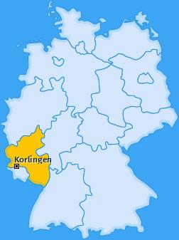 Karte von Korlingen
