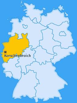 Karte von Korschenbroich
