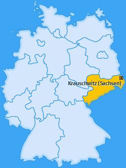 Karte von Krauschwitz (Sachsen)