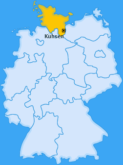 Karte von Kühsen