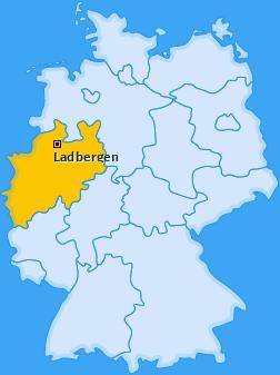 Karte von Ladbergen
