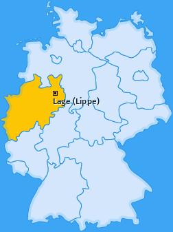 Karte von Lage (Lippe)