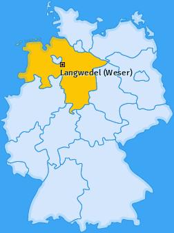 Karte von Langwedel (Weser)