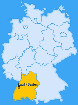 Karte von Lauf (Baden)