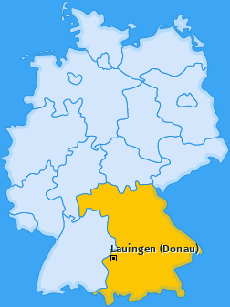 Karte von Lauingen (Donau)