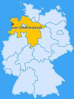 Karte von Leer (Ostfriesland)