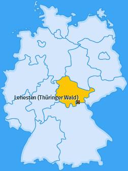 Karte von Lehesten (Thüringer Wald)