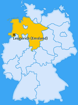 Karte von Lengerich (Emsland)