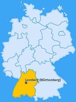Karte von Leonberg (Württemberg)