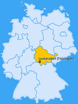 Karte von Leutersdorf (Thüringen)