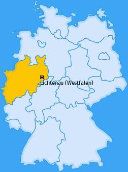 Karte von Lichtenau (Westfalen)