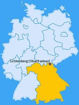 Karte von Lichtenberg (Oberfranken)