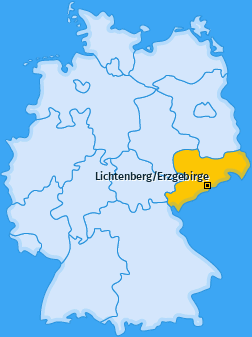 Karte von Lichtenberg/Erzgebirge