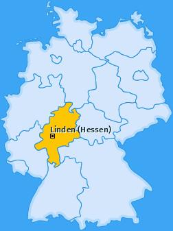 Karte von Linden (Hessen)