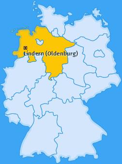 Karte von Lindern (Oldenburg)