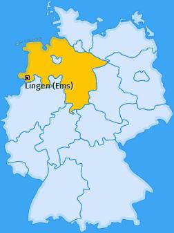 Karte von Lingen (Ems)