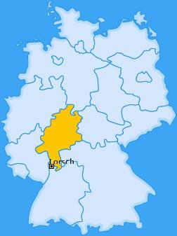 Karte von Lorsch
