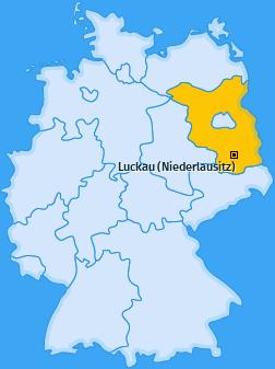 Karte von Luckau (Niederlausitz)