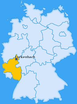Karte von Luckenbach