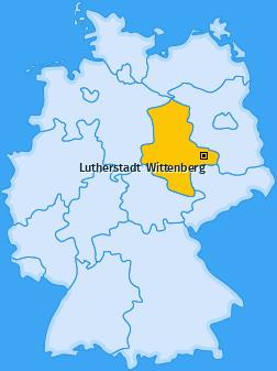 Karte Wiesigk Lutherstadt  Wittenberg