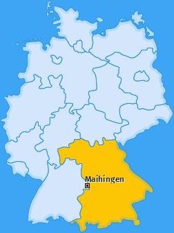 Karte von Maihingen