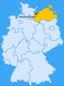 Karte von Stepenitztal
