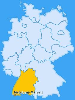Karte von Malsburg-Marzell