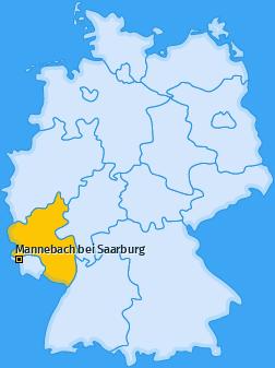 Karte von Mannebach bei Saarburg