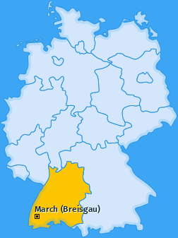 Karte von March (Breisgau)