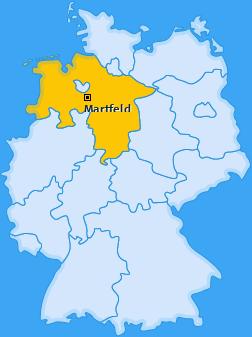 Karte von Martfeld