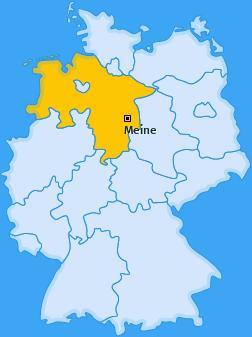 Karte von Meine