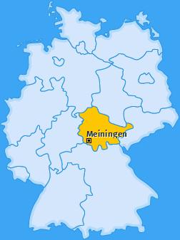 Karte von Meiningen