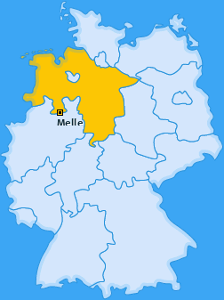 Karte Üdinghausen-Warringhof Melle