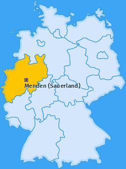 Karte Ostsümmern Menden (Sauerland)