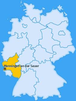 Karte von Menningen an der Sauer