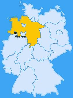 Karte von Merzen