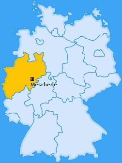 Karte von Meschede