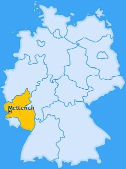 Karte von Metterich