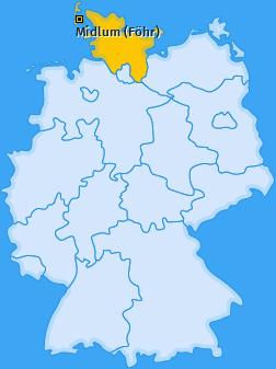 Karte von Midlum (Föhr)