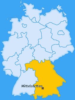 Karte von Mittelstetten