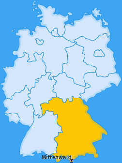 Karte von Mittenwald