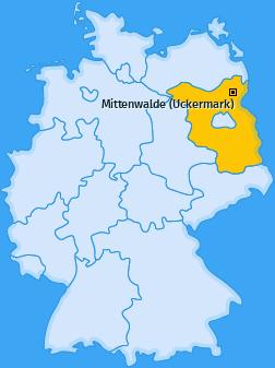 Karte von Mittenwalde (Uckermark)